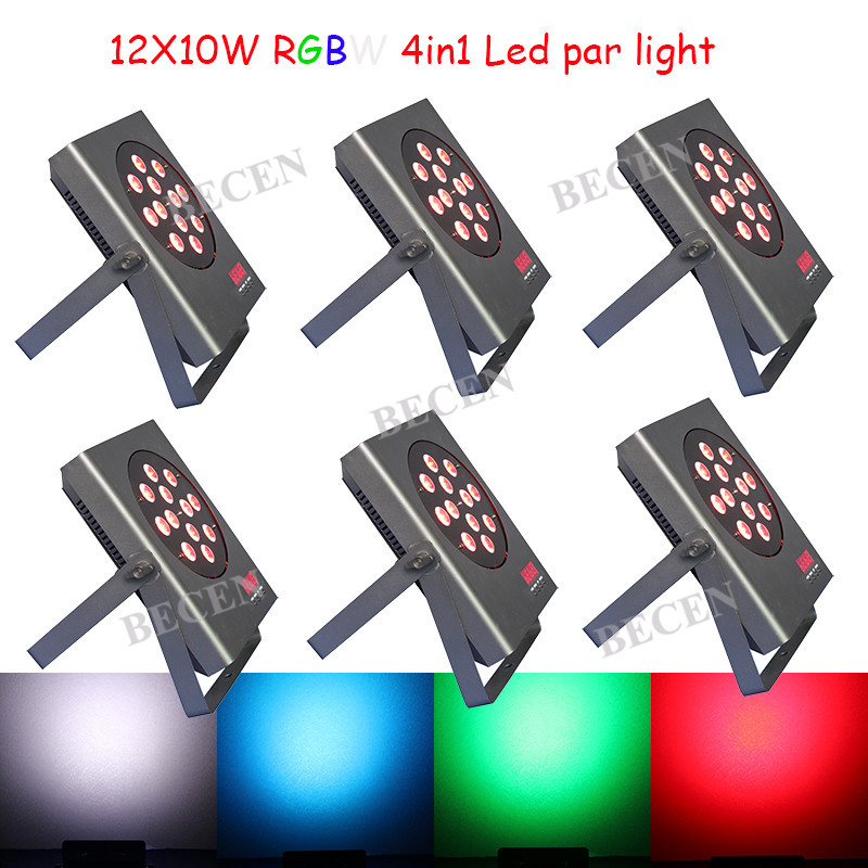 6pcs 12x10W led par lights 4in1 RGBW Aluminum led par lights for KTV Club Disco Lighting