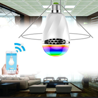 Intelligent E27 3W RGB LED Bulb Bluetooth Smart Lighting Lamp Colorful Dimmable Speaker Lights Bulb App