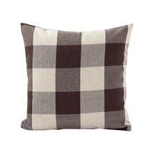 цены Modern Linen Plaid Sofa Bed Cushion Cover Throw Pillow Case Car Office Decor Box Home Decor Supplies (Without Pillow Core)