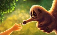 Art animal arm greens baby baby leaves 4 Sizes Wall Decor Canvas Poster Print