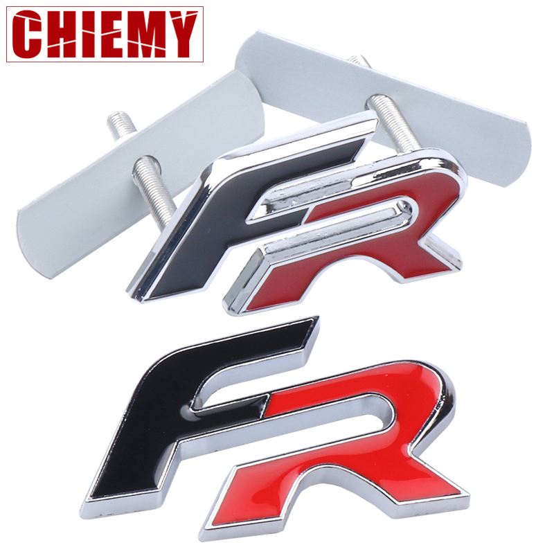 3D Metal FR Auto Stickers Front Grille Badge Emblem Car Styling For Seat Leon FR+ Cupra Ibiza Altea Exeo Formula Accessory
