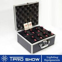 2 × 4 チャンネル屋内噴水ベース花火コールド結婚式機 Pyro 火花効果ワイヤレスリモコン 8 受信機システム