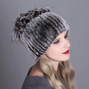 Image 5 - Nón nữ Mùa Đông Nữ Nữ đi Thật 100% Rex Thỏ Cáo Mũ Lông Thú Rex Lông Thỏ Mũ nữ mùa đông Ấm Mũ Đợi Đầu Đa Năng