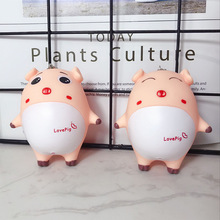 2 Styles Creative Cute Pig Keyrings 3D Key Chain Hand-painted Craft Car Keychain Holder Bag Accessories Charm Pendant