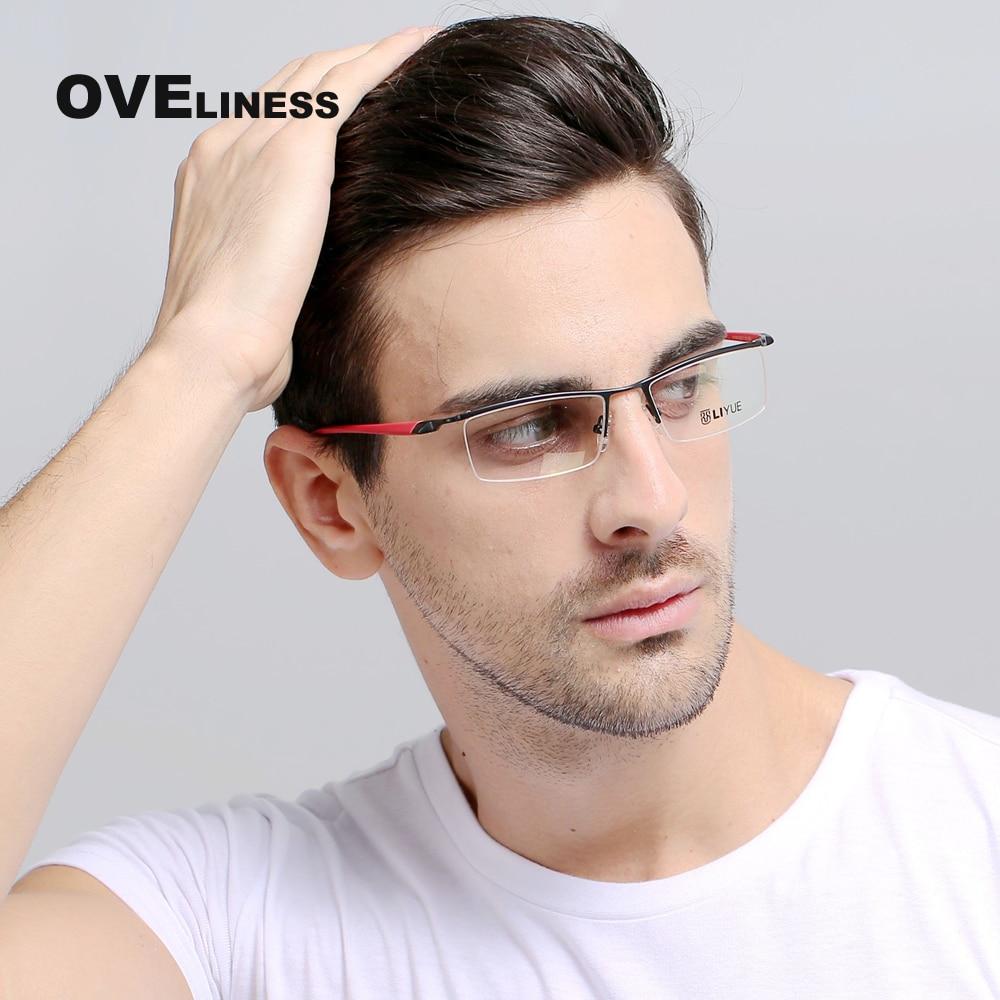 أزياء العلامة التجارية مصمم النظارات البصرية إطار وصفة النظارات واضح عدسة النظارات إطارات للرجال قصر النظر النظارات