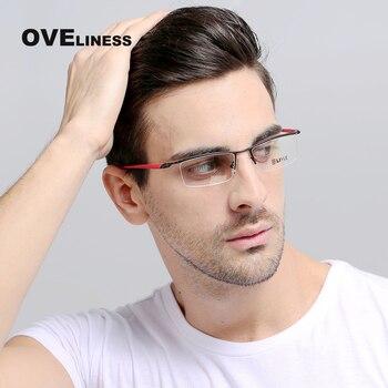 Moda marka projektant okulary optyczne rama okulary korekcyjne okulary przeciwsłoneczne Clear Lens oczu ramki okularów dla mężczyzn krótkowzroczność okulary