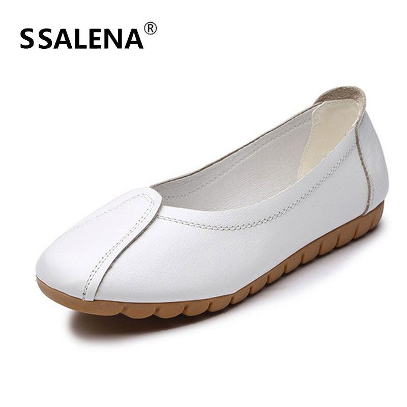Chaussures Blanc Solide Aa11719 Occasionnels Profondes À Souple Glissement slip Anti Femmes Appartements Dames Peu Mocassins Semelle Ballet Sur qwn4aXzRT
