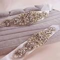 Em Estoque Mulheres Cinto Cintos Robbin Cristais Sash para Casamento Artificial Noiva para Casamentos Reais Imagens