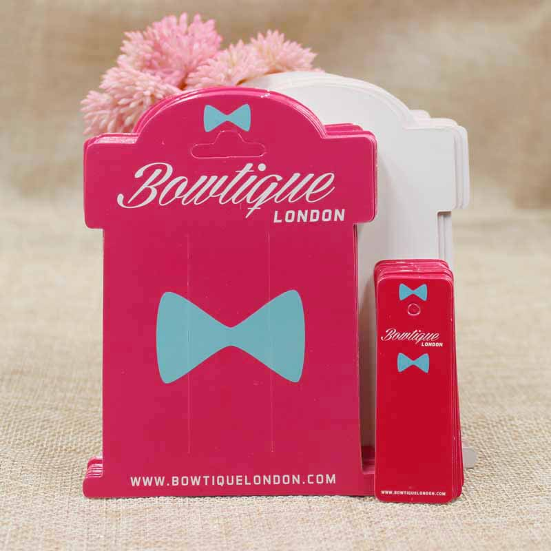 Custom logo full color print hair clip card hair accessories dispaly card 1000pcs 1000pcs garment swing