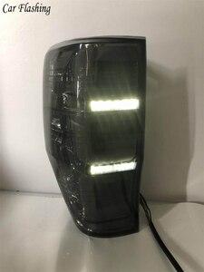 Image 3 - Автомобильные задние фонари для Ford Ranger 2,2 Ranger 3,2 2015 2016 2017 2018 задние фонари светодиодный DRL ходовые огни Противотуманные фары с ангельскими глазками задние