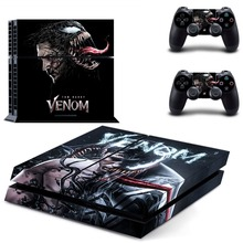 Venom and Spiderman PS4 Skin Sticker Decal Vinyl for Sony Playstation 4 Console and 2 Controllers PS4 Skin Sticker