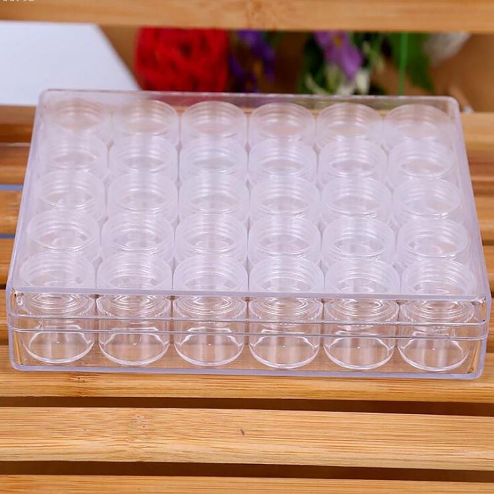 30 pcs Boîte De Rangement En Plastique Transparent Anneaux Bijoux Organisateur D'affichage Poudre Paillette Strass Clou Stockage L50