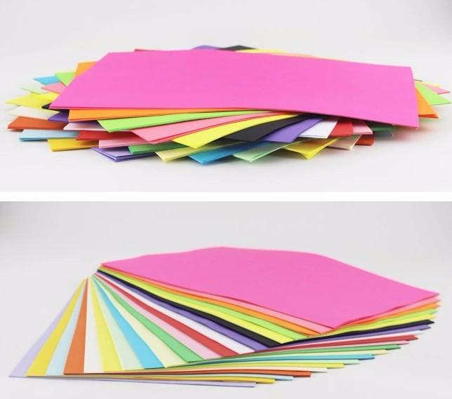 100 листов цветной бумаги А4 80г копия многоцветный немелованной бумаги 12 colorss бумаги ручной работы оригами Бумага для печати
