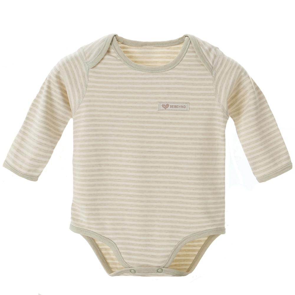 Fairy Baby Unisex Baby Organic Cotton Bodysuit Stripe Long Sleeve Onesies