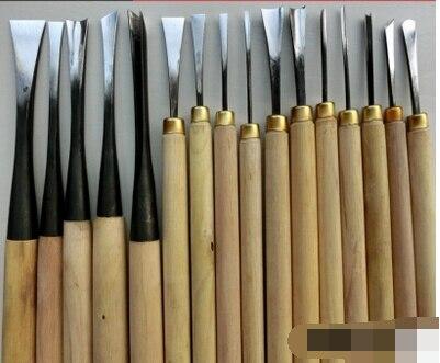 Ручной работы резьба по дереву нож дерево необходимый инструмент набор деревянная тонкого помола--16шт/комплект