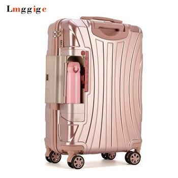 6a3ba1ccc Maleta enrollable de PC con soporte de taza, bolsa de equipaje de viaje,  Funda Universal para ruedas, caja de alta calidad de 20