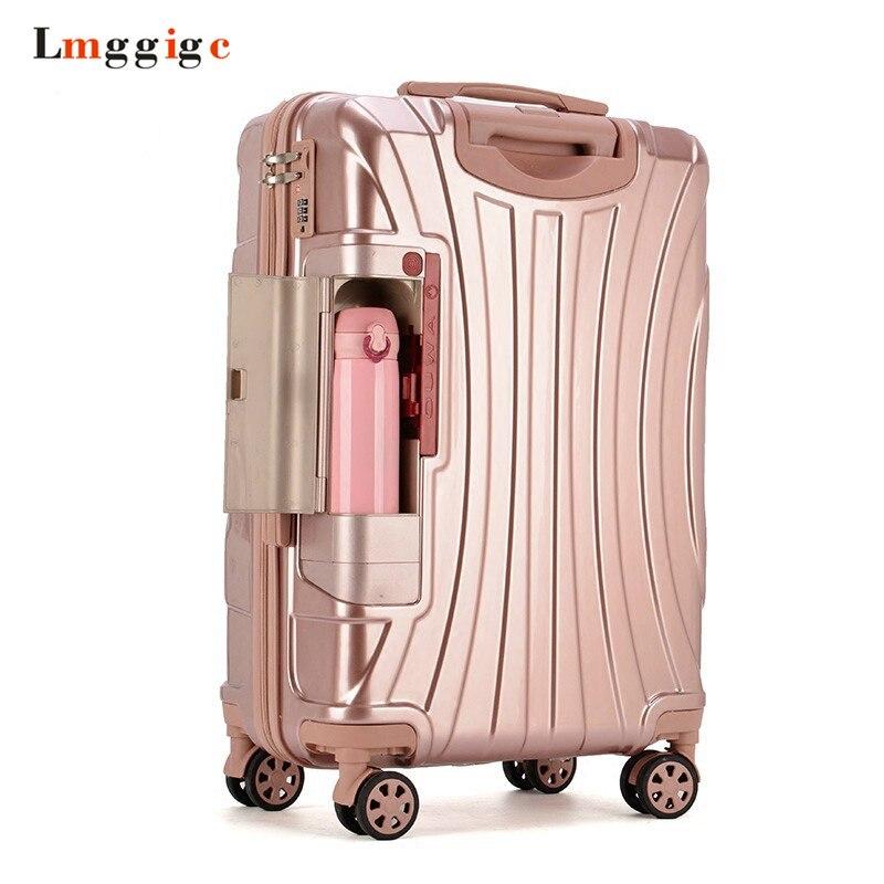 Valise à roulettes PC avec support de verre, sac à bagages de voyage, boîtier de chariot de voyage universel, boîte de haute qualité 20