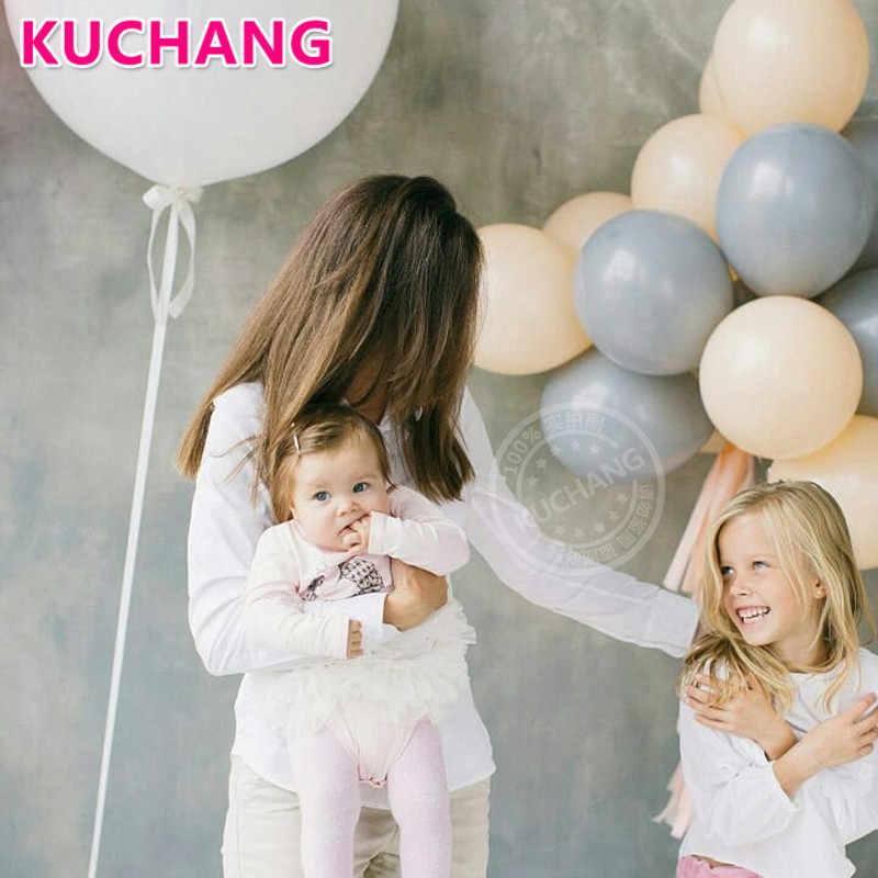 Macaron 10 pçs/lote 5/10 polegada Fosco Cinza Cor Da Pele de Látex Balões de Hélio Decorações Da Festa de Aniversário Do Casamento Do Chuveiro Do Bebê Suprimentos