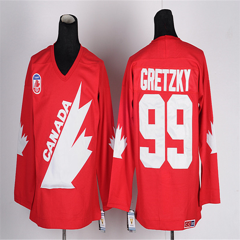 Mens Retro 1981 Team Canada Wayne Gretzky Stitched Name&Number Throwback Hockey Jersey все цены