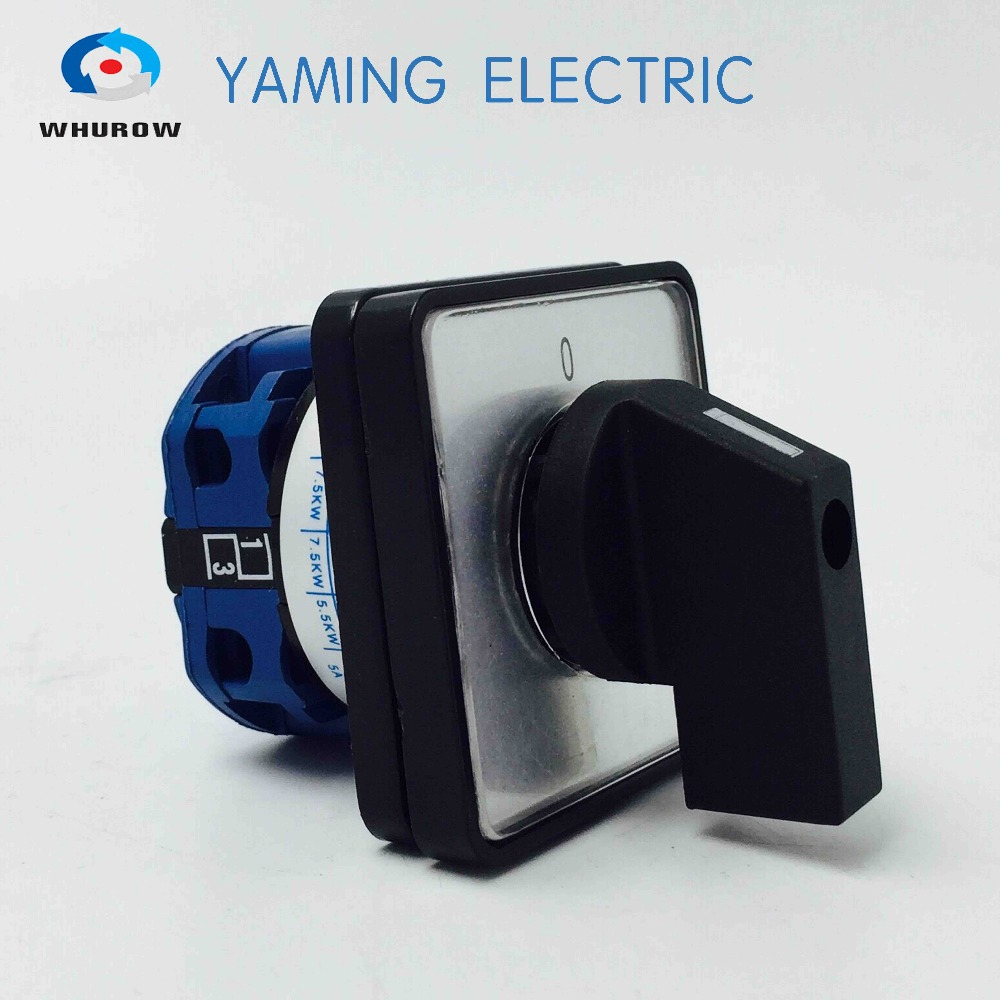 China Supplier Factory Changeover switch 20A 2 Position on-off 1 pole rotary cam switch silver contact Yaming electric ui 660v ith 32a on off load circuit breaker cam combination changeover switch