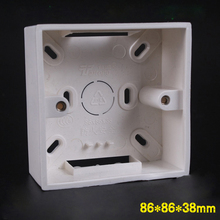 5pcs Type 86 Junction Box Depth 38 mm Universal Socket Bottom Box PVC Wall Mount Switch Box