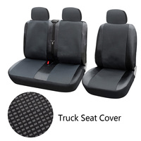 Dewtreetali 1+2 Seat Covers Car Seat Cover for Transporter/Van Universal Fit with Artificial LeatherTruck Interior Accessories