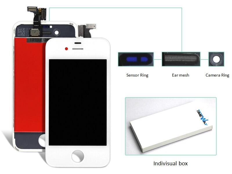 Dhl 10 unids teléfono móvil piezas de repuesto para iphone 4 4g lcd display + to