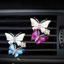 CDCOTN 1Piece Car Air Freshener Perfume Butterfly Shape Crystal Diamond Conditioning Outlet Clip Accessories