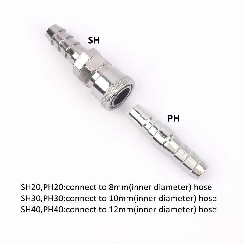 Conector neumático de tipo C conector rápido accesorios de compresor de acoplamiento rápido conector de alta presión de tubería de aire de Gas