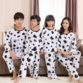 Nueva familia juego trajes ropa madre padre hija set niñas niños pijamas de algodón ropa de dormir de la familia