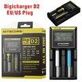 Nitecore d2 digcharger carregador de bateria universal para aa aaa lcd carregador nitecore para 18650 farol