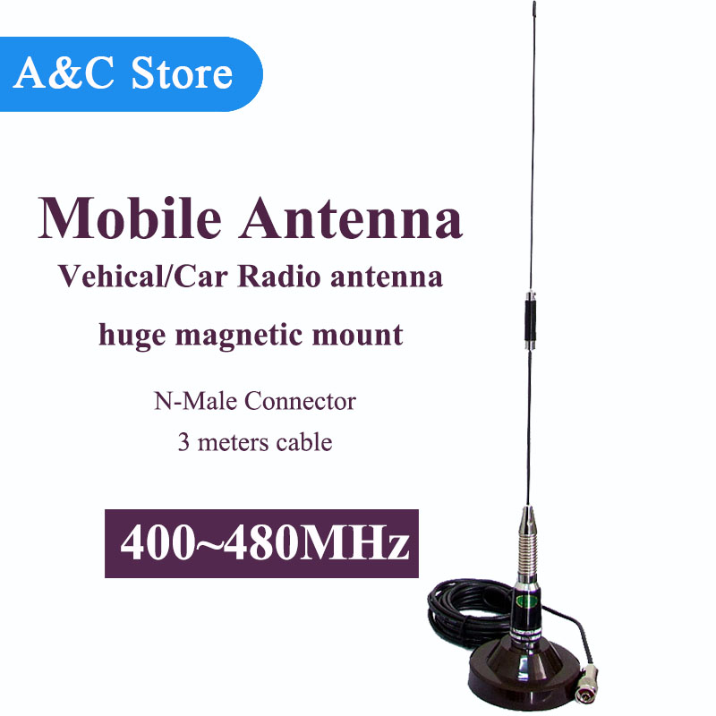 <font><b>400MHz</b></font> <font><b>antenna</b></font> mobile/vehical <font><b>antenna</b></font> UHF 400~480MHz <font><b>antenna</b></font> magnetic mount <font><b>antenna</b></font> 3 meters cable high quality SL-16 Male image