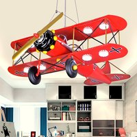 Modern Painted Metal Plane Kid's Bedroom Pendant Lamp LED Boy's Study Room pendant Lights Creative iron helicopter Hanging Lamps