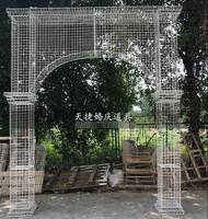 New wedding T platform six prism road lead iron carving props road lead decorative wedding road guide