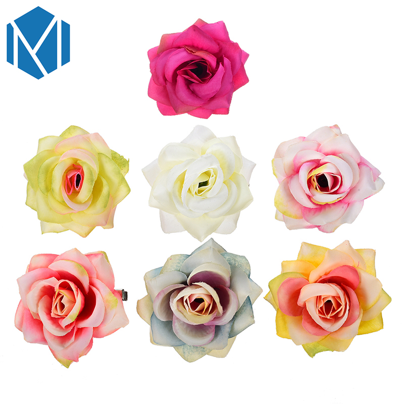 M MISM New Arrival Baby Girls Fabric Rose Flower Headwear Hairpins Children Accessories Ornaments Hair Clip for Princess Dress free shipping 2015 new 60pcs lot 20colors fashion handmade felt rose flower diy for hair accessories headband ornaments