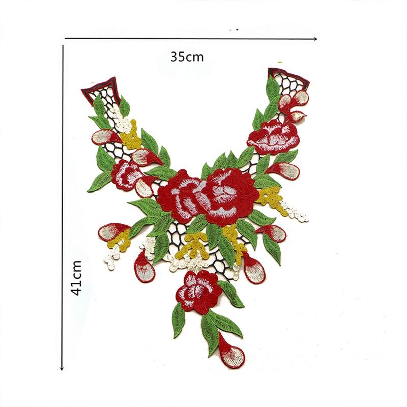 Vezeni Poliester Lace Applique Šivanje Patch za ovratnik svadba - Umjetnost, obrt i šivanje - Foto 2