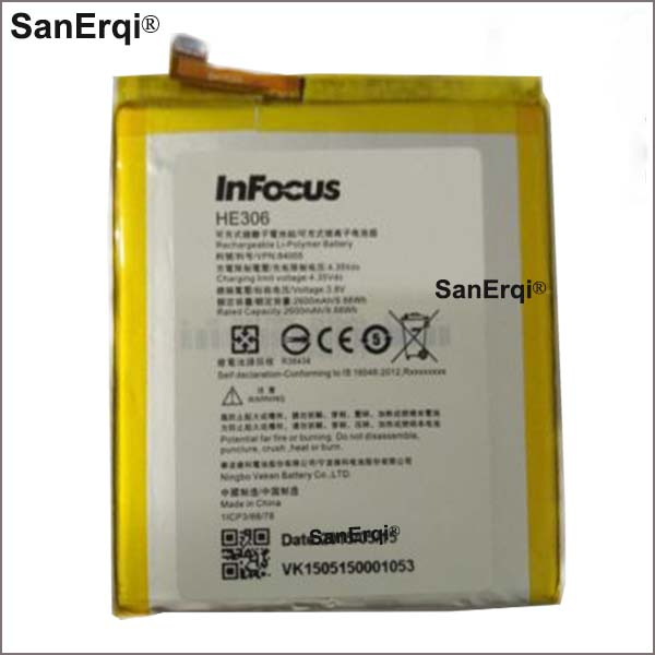 HE306 2600mAh High Quality Mobile Phone Replacement Battery For Infocus M680 M535 HE306 Lithium Polymer Batteries(China)