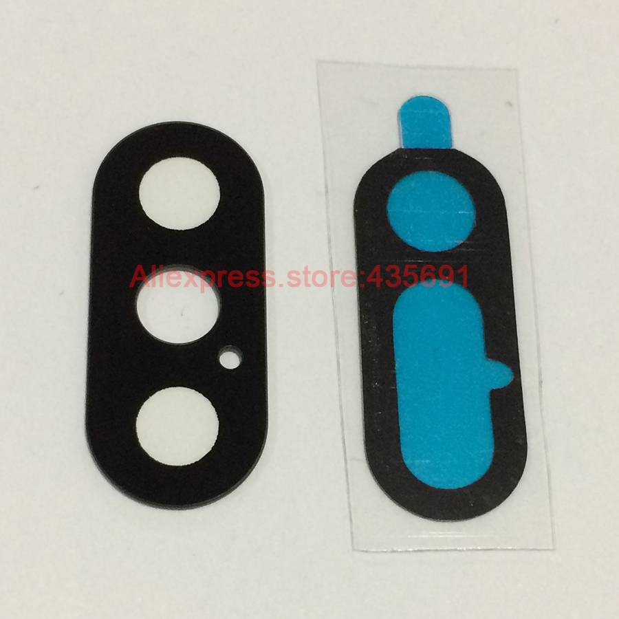 10Pcs New Back Rear Camera Lens Glass Cover with Sticker