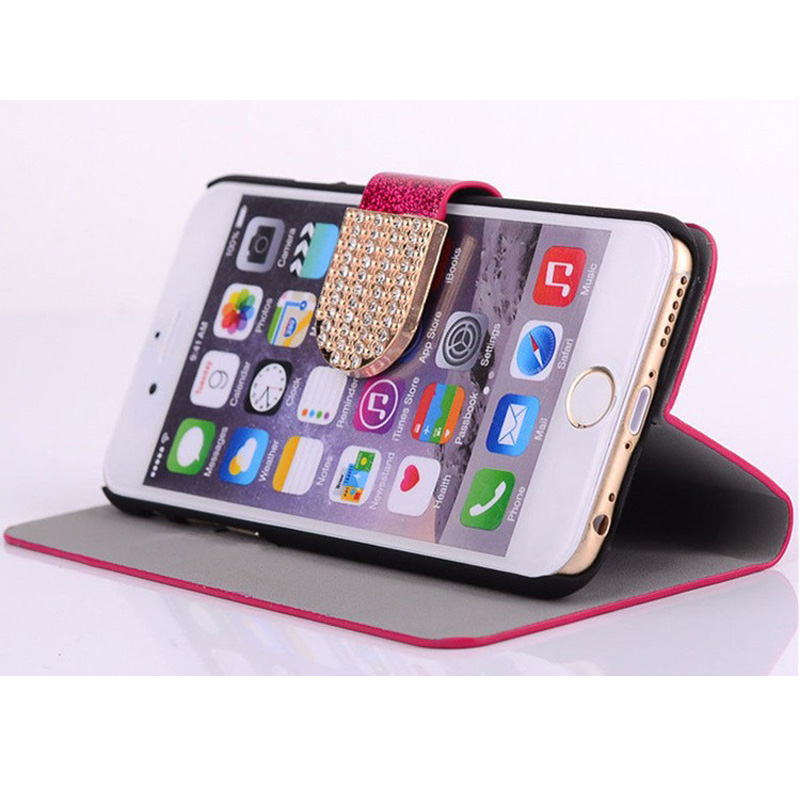Flip Phone Case Cover for Google Pixel Original Rhinestone Cases Bling Fundas Diamond Coque Glitter Capa Card Holder