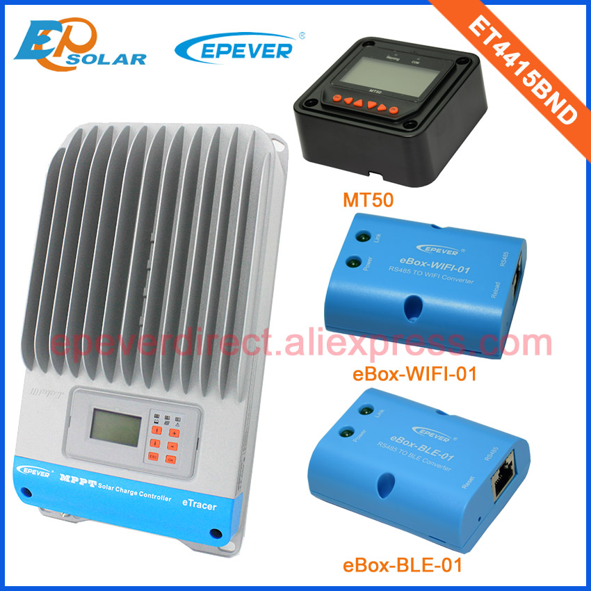 Solar Power Controller EPEVER MPPT 45A 45amps ET4415BND Free shipping Fedex to Korea low price BLE Wifi eBOX remote meter MT50Solar Power Controller EPEVER MPPT 45A 45amps ET4415BND Free shipping Fedex to Korea low price BLE Wifi eBOX remote meter MT50