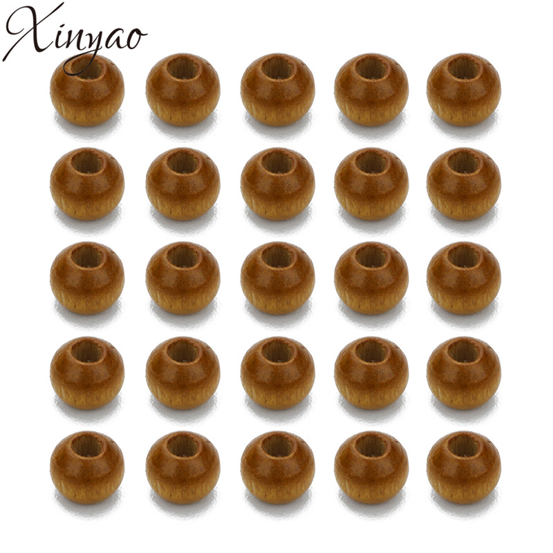 XINYAO 500pc 6X4mm Natural Wood Bead Lentil Abacus Beads Loose Spacer Beads With 2mm Hole for DIY Bracelet Jewelry Finding F7486
