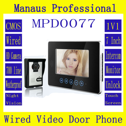 High Quality One to One Video Doorphone Kit Configuration,Professional Smart Home 7 inch Screen Touch Video Intercom Phone D77b