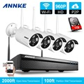 ANNKE 4CH 960P Wireless NVR Kit 1TB HDD 1.3MP CCTV Security WIFI IP Camera Video Recorder Network  Surveillance kits