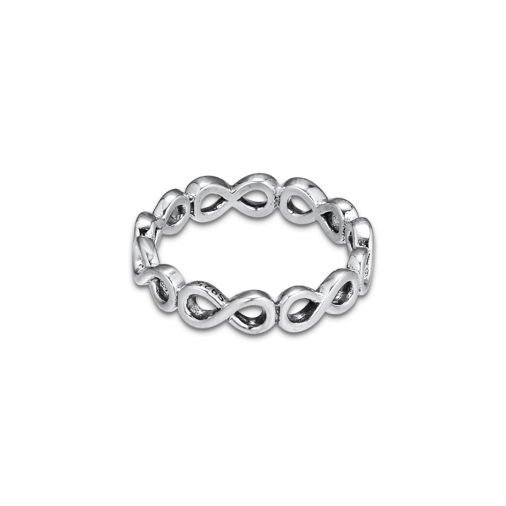 CKK Infinite Shine Ring 925 Sterling Silver Wedding Rings For Women Silver 925 Anillos Mujer Fine Jewelry