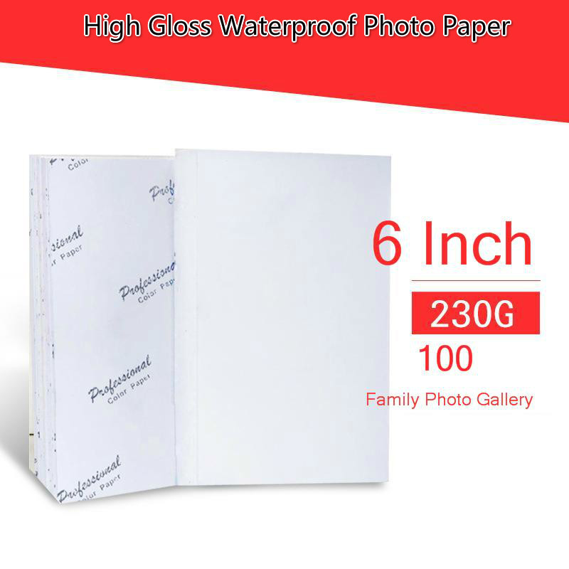 Купить с кэшбэком A5 3R 4R 5R A3 A4 200sheets Photographic Paper Glossy Printing Paper Printer Photo Paper Color Printing Coated For Home Printing