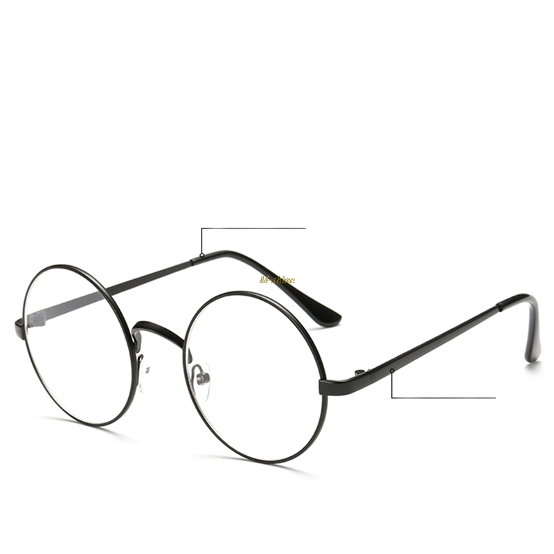2018 Exquisite Chic Eyeglasses Retro Big Round Metal Frame Clear Lens Glasses Nerd Spectacles   M-shine A29_18