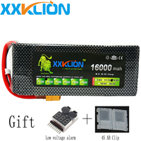 XXKLION 14.8V 4S 16000mah 20C 25C 30C drone battery pack FPV air plane use battery high quality lithium battery Free shipping