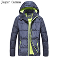 Frete grátis chegam Novas Clássico Homens jaqueta de Inverno pato Para Baixo Parkas homens casaco Com Capuz Outwear Quente Grosso Casaco Amassado