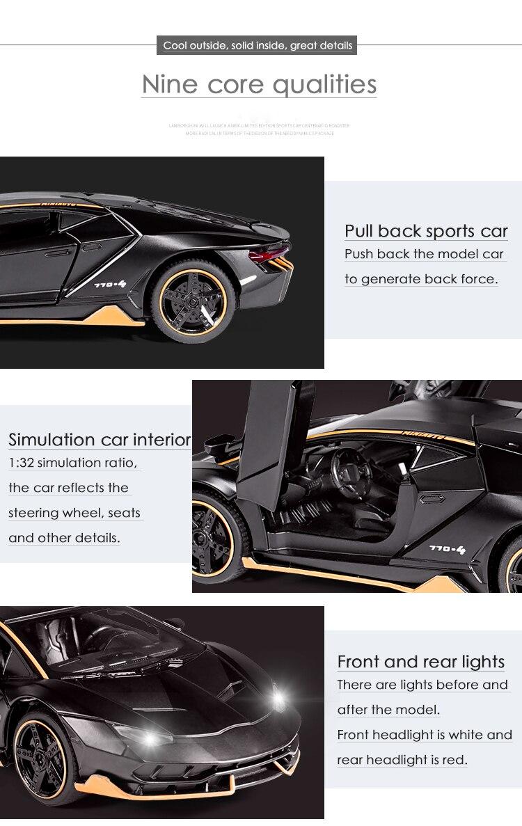 Centenario LP700-4 High Quality Model Toy Car 15.5x6.5x4.3 cm 35