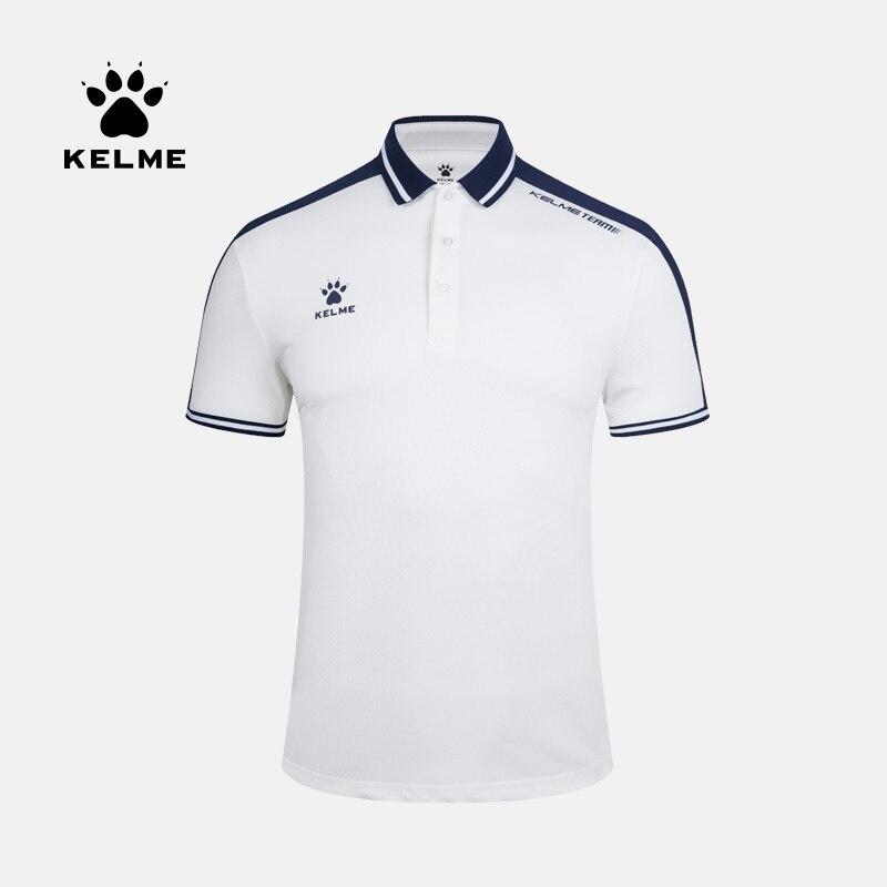KELME Men's Summer Polo Short Sleeve Cotton Sports POLO Slim Casual Shirt 3891068